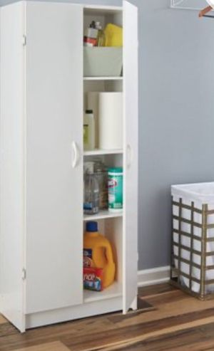 New!!cabinet, 2 doors cabinet, armoire, organizer, storage unit, pantry cabinet, laundry cabinet, kitchen cabinet, kitchen furniture, white for Sale in Phoenix, AZ