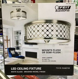 """LED Ceiling Fixture Light Luz 15.4"""" Feit Electric for Sale in Miami, FL"""