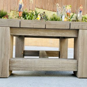 Teak Coffee / Side Table by Restoration Hardware French Beam Collection / Patio / Outdoor / Indoor / Weathered Design / Very Heavy & Solid for Sale in San Diego, CA