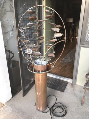 Large copper waterfall fountain lily leaf leaves rare for Sale in Claremont, CA