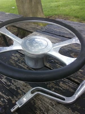 Billet specialties chevy/gm billet steering wheel and shifter for Sale in Columbus, OH