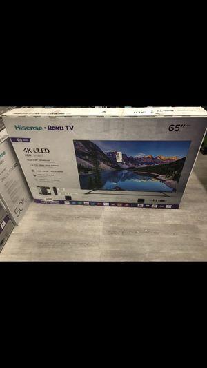 65 INCH HISENSE 4K ROKU 8F SMART TV for Sale in Chino Hills, CA