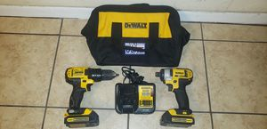 USED DEWALT 20V SET !!! 2 BATTERIES, CHARGER & CONTRACTOR BAG for Sale in Houston, TX