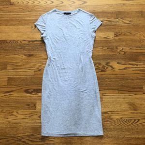 Gray Short sleeve body con dress size medium knee length for Sale in Germantown, MD