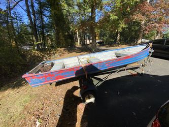 14ft aluminum boat with trailer for Sale in Tolland,  CT