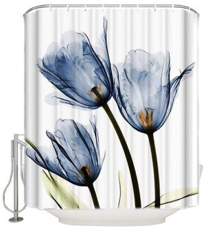 Blue Tulip Flowers Florals Shower curtains for sale for Sale in Tampa, FL