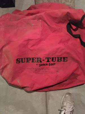 SuperTube towable inflatable tube with heavy red cover for Sale in Pasadena, CA