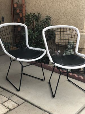 Brand new set of black metal contemporary style accent chairs. for Sale in Fowler, CA