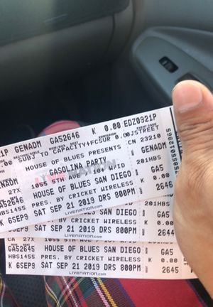 4 House of Blues Gasolina Party Tickets for Sale in Chula Vista, CA