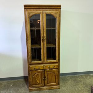Large Oak Display Cabinet for Sale in Allentown, PA
