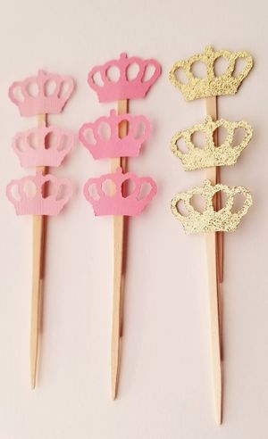 12 Princess Crown Cupcake Toppers for Sale in Chula Vista, CA