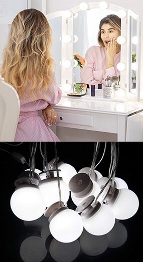 $20 NEW DIY Vanity Mirror Kit 10pcs Dimmable LED Light Bulb Makeup Dressing Table (USB Connection) for Sale in Montebello, CA