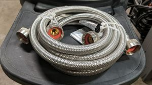 Two 6' braided water lines for washing machine for Sale in Albuquerque, NM
