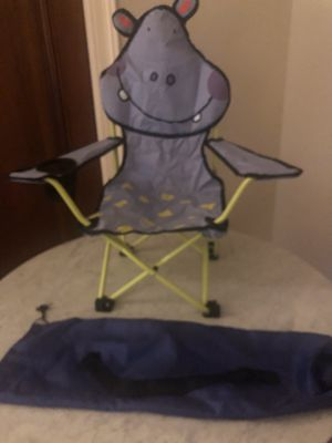 Kids hippo folding chair and carry bag for Sale in New York, NY