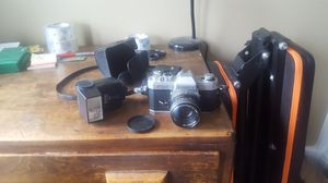 Vintage FX-2 Camera with Flash Attachment and Case for Sale in Brooklyn, NY