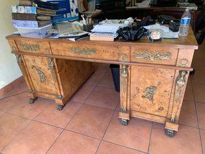 Antique Burlewood Desk for Sale in Davie, FL