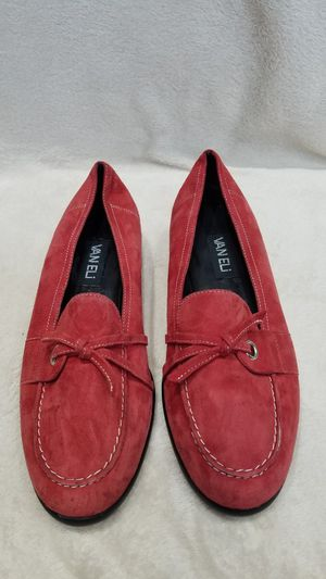 Women's Vaneli red suede loafer shoes, size 9.5 for Sale in Ithaca, NY