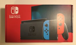 BRAND NEW Nintendo Switch 32GB Gray Console with Neon Red and Neon Blue Joy-Con for Sale in Silver Spring, MD