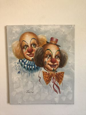 Couple of Clowns Oil on Canvas for Sale in Gilbert, AZ