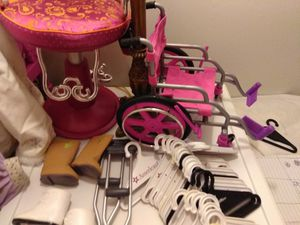 Two American Girl dolls and all kinds of accessories for Sale in Whitehall, OH