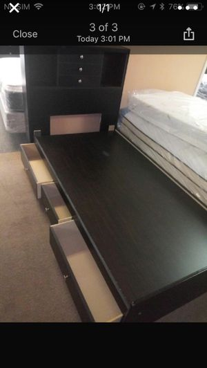 Twin size bed frame with drawers for Sale in Huntington Beach, CA