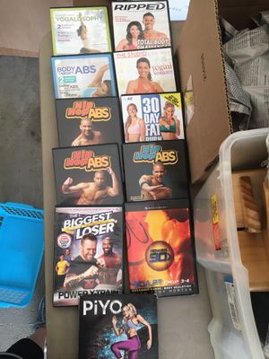 Assorted exercise DVD's for Sale in Eastlake, OH