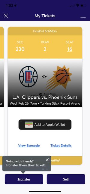 Suns vs Clipper sec 230 row 2 $30each for Sale in Goodyear, AZ