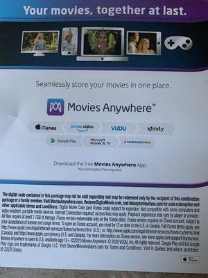 Digital Code Movie Maleficent 2 Disney for Sale in Glen Jean, WV