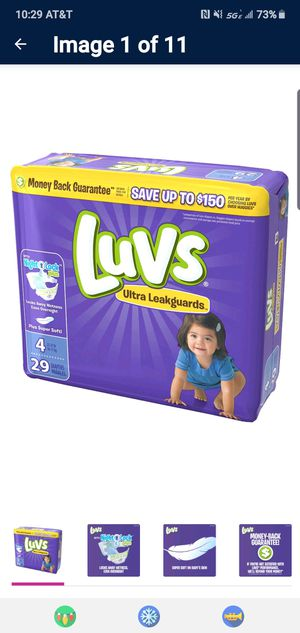 Luvs diapers size 4 for Sale in Placentia, CA