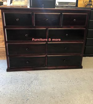 Cherry dresser 9 drawers - Pine wood - 🌸🌸Ready for pickup or delivery available if needed for an extra charge🌸🌸 for Sale in Long Beach, CA