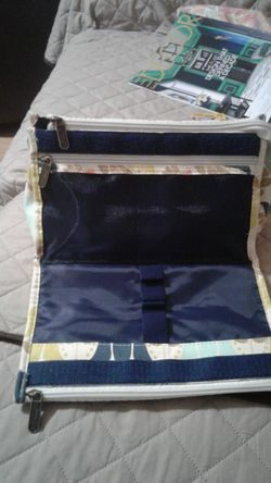 Makeup bag with brushes for Sale in Columbia,  TN