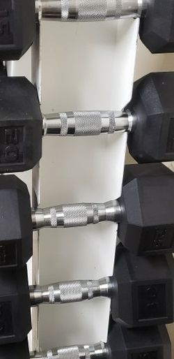 Rubber Hex Dumbell Set for Sale in Lowell,  MA