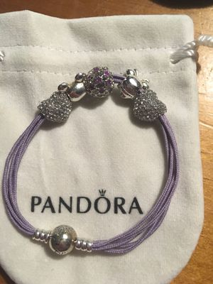 Retired pandora Bracelet with Minnie Mickey pandora charms size large for Sale in Los Banos, CA