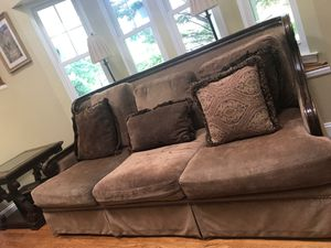Havertys complete set (couch & love seat) plus bookshelf for Sale in Sterling, VA