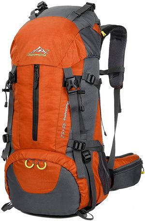 50L Hiking Backpack in Orange with Rain Cover Outdoor Use for Sale in Los Angeles, CA