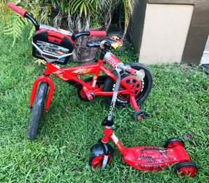 "16"" Disney Cars bike & scooter for Sale in Weston, FL"