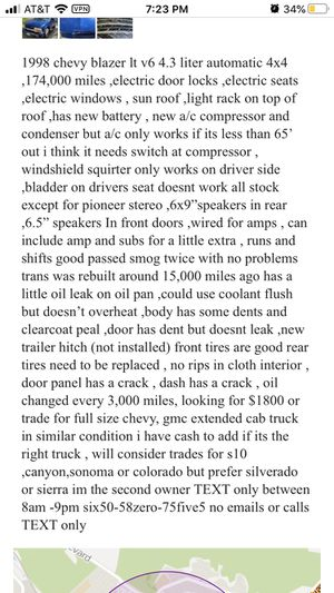 1998 chevy blazer for Sale in San Bruno, CA