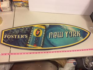 Fosters beer sign surfboard 3D New York man cave for Sale in East Yaphank, NY