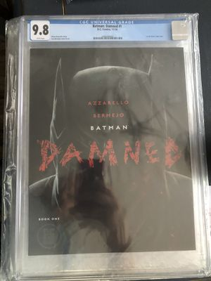 DC Comics Black Label BATMAN Damned issue #1 Comic Book - First Print - CGC Graded 9.8 !! for Sale in Plainfield, IL