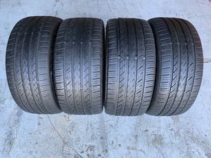 Set of two 225/40/18 and two 255/35/18 Nankang Sportnex NS-25 with 75-80% left staggered set for Sale in Hialeah Gardens, FL
