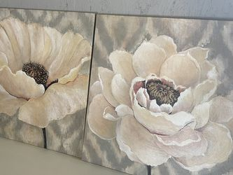 Canvas Painting - White Flowers for Sale in Tacoma,  WA