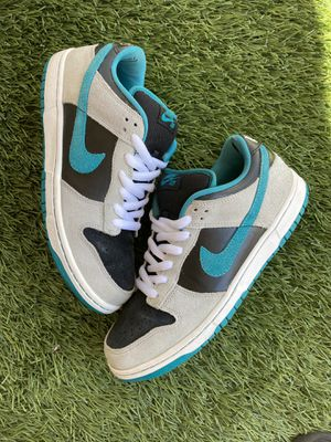 2010 Nike SB Dunk Low Pro CHROME BALL INCIDENT Emerald Radiant Grey Blue White Black for Sale in San Diego, CA