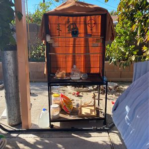 Large Bird Cage With Acessories For Sale for Sale in Garden Grove, CA