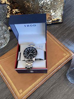 Stylish IZOD Mens Silver Bracelet Watch for Sale in Alexandria,  VA