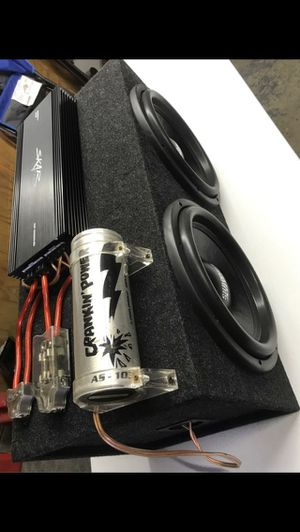 Subwoofers, amplifier, capacitor, bass knob, terminal blocks (SA12 rev.3) (2000.1D) for Sale in Stickney, IL