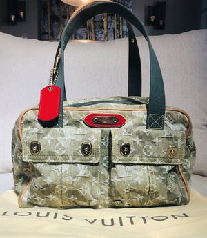 LOUIS VUITTON Green Monogramouflage Denim Jasimine Bag- LIMITED ADDITION!! for Sale in Littleton, CO