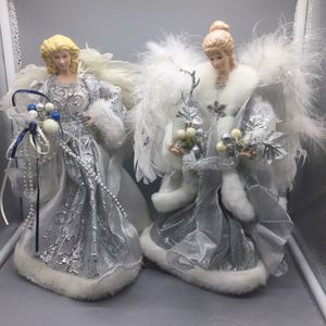 "2 Silver and White Christmas Angel Holiday Toys 12"" USED! , Snowball Vintage for Sale in Chevy Chase, MD"