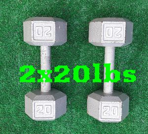 2x20lbs Hexagon Dumbell Weights for Sale in Hollywood, FL