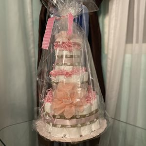 Beautiful Baby Diaper Cake For Baby Girl Ballerina Cake for Sale in Los Angeles, CA