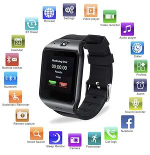 Bluetooth Smartwatch with Camera, EasySMX LG118 Smartwatch Cell Phone with Sim Card Slot, All in 1 Touch Screen Watch for iPhone, Android Samsung Gal for Sale in South Brunswick Township, NJ